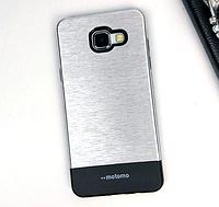 Чехол серебрянный двойной Motomo для Samsung Galaxy A5 (2016), фото 1