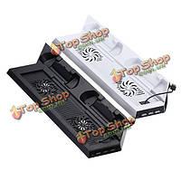 3 порта USB вертикальной зарядки зарядное устройство стенда вентилятор для PlayStation 4 PS4 контроллер dualshock