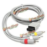 1.8м ТВ композитный RCA аудио видео AV-кабель для Nintendo Wii консоли