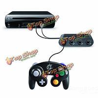 Новый 4-портовый события первой части ГК контроллер адаптер конвертер для Wii U черный высокое qulity
