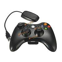 Черный беспроводной игровой пульт дистанционного управления для Microsoft Xbox 360 консоль