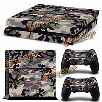 Наклейка камуфляж для консоли PS4 PlayStation 4