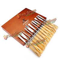 12шт резьбы стамески набор деревообрабатывающие ножи по дереву ножи набор