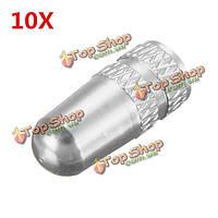 10шт алюминий Presta французский колесо воздушный клапан крышки пылезащитный чехол задействуя серебро