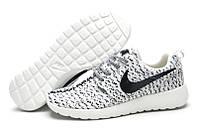 Кроссовки мужские беговые Nike Roshe Run Flyknit Turtle Grey (в стиле найк роше ран) серые