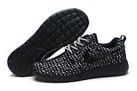 Кроссовки мужские беговые Nike Roshe Run Turtle Black (в стиле найк роше ран) черные