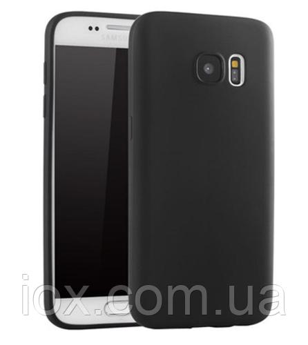 Ультратонкий черный силиконовый чехол для Samsung Galaxy S7