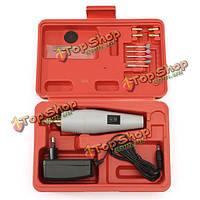 220В DC/AC Mini электродрель DIY рука электрический шлифовальный станок комплект с адаптером питания