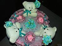 Букет из игрушек Розово-голубой