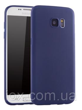 Ультратонкий синий силиконовый чехол для Samsung Galaxy S7