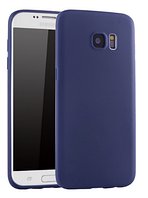 Ультратонкий синий силиконовый чехол для Samsung Galaxy S7, фото 1