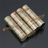 N50 сильные магниты круглые цилиндрические неодимовые 10мм х 8мм 20шт