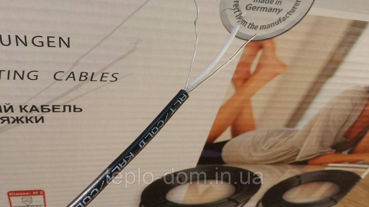 Тонкий двужильный  кабель монтаж без стяжки  Hemstedt DR 18 м.кв) Регулятор в подарок.