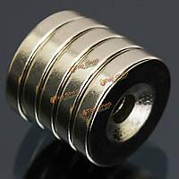 5шт N50 15x3мм потайной кольцо магниты 4мм отверстий редкоземельных магнитов неодим