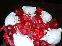 Букет из игрушек Сердца