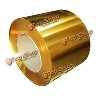 Латунь металл тонкий лист фольги пластины 0.02 х 100 х 1000 мм