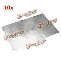 10шт 150мм × 100мм × 0.3мм Clear цинка гп листовое
