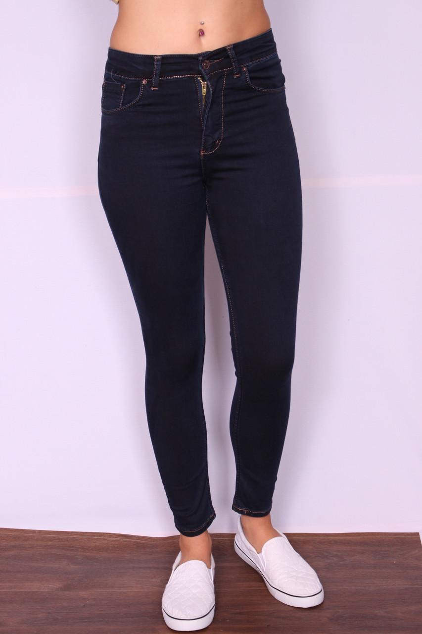 a90928d4a1c Женские джинсы с завышенной талией без потертостей (американка) ODL ( код  144) -