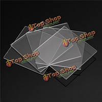 5шт двухсторонняя шлифованный плавленого кварца из кварцевого стекла листы пластины 30мм х 30мм х 1мм