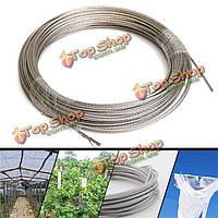 304 из нержавеющей стальной трос 3мм Диаметр проволоки одежды кабельной линии проволоки длина троса 30 м