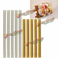 5шт полупрозрачный клей блестки горячего расплава палочки декоративный элемент соуса поддельные обледенения сургучные печати