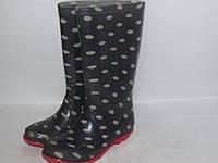 Стильные резиновые сапоги на модницу _10р_ст.17.5