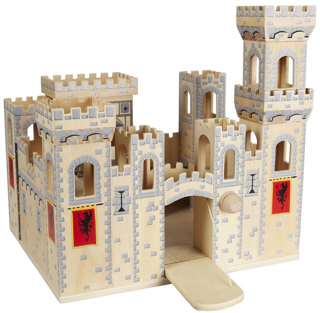 Деревянный рыцарский замок (Folding Medieval Castle) ТМ Melissa & Doug MD11329