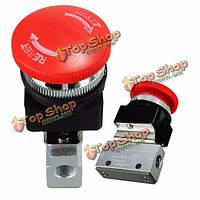 2 способ 2 позиция пневматическая механический клапан 1/8-дюйма резьба кнопка переключатель клапана
