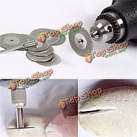 10шт алмазных отрезных дисков колес 16-50мм вращающиеся части инструмента с 2-арбор вал