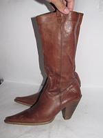 Кожаные сапоги из Италии - 37р _ 24 см _Н07