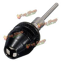 0.3-4мм мини-тренировка без ключа бросает электрический адаптер дробилки с 3-миллиметровым шатуном для dremel