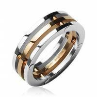 Стальное тройное кольцо R-H0911