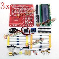 3шт оригинальная hiland diy многофункциональный транзисторный тестер комплект для локальной непрерывной репликации esr ШИМ генератор M328