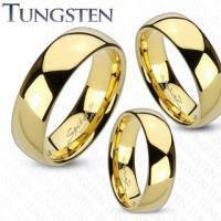 Золотое обручальное кольцо из вольфрама для пары R-TU-145