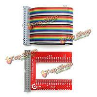 GPIO U-образный адаптер v2 макетная плата расширения 40p комплект кабелей для Raspberry Pi 3 B +