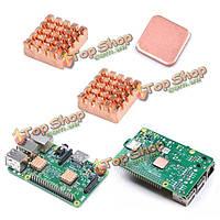 Пи 2/3 меди радиатор радиатор Raspberry 9pcs