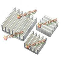 3шт клей алюминиевый теплоотвод кулер охлаждения комплект для Pi малины