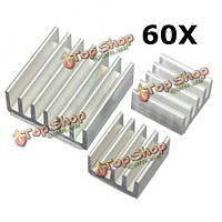 60шт клей алюминиевый радиатор охладителя комплект для охлаждения Raspberry Pi