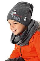 Детский комплект (шапка и хомут) для мальчика, MARIKA (Польша)