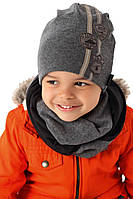 Детский комплект шапка и хомут для мальчика, MARIKA (Польша)