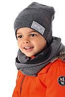 Комплект шапка и хомут для мальчика, MARIKA (Польша)