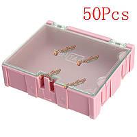 50шт розовый Mini ОУР SMD чип конденсатор резистор компонент коробке