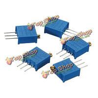 5шт 100 Ом 3296w потенциометр подстроечный 3296 переменный резистор