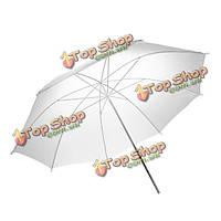 Непрерывное 33 дюйма 83см студии флэш прозрачный белый мягкий полупрозрачный белый зонт