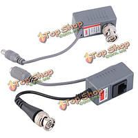 Балун видео мощность cat5 / 5e / 6 кабель трансивера BZX–215 BNC Видеодомофон RJ45 1 пара