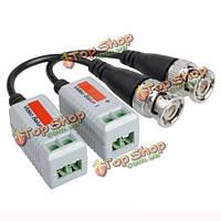 Витая разъемами BNC CCTV видео балун приемопередатчики пассивные кабель UTP cat5 видео балун