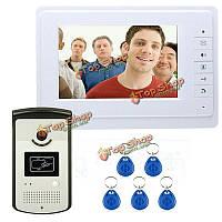 SYSD sy819meid11 7-дюймов цветной видео-система с монитором RFID-карт ридер HD дверной звонок домофон домофон