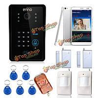 Эннио sywifi002idsw WiFi видео домофон система с функцией разблокировки системы сигнализации дома карты и дистанционного беспроводного управлени