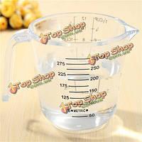 300мл измерительная лаборатория кувшина чашки кухня выпечки Метрика точная из прозрачного пластика