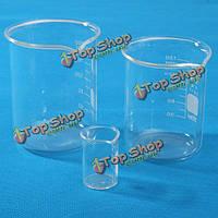 10мл/150мл/200мл стекло лабораторный химический стакан низкой химической формы лабораторное оборудование